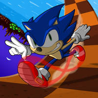 Sonic the Hedgehog by fryguy64