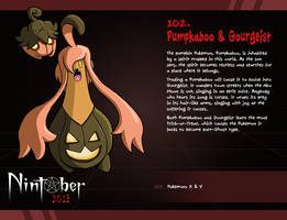 Nintober 102. Pumpkaboo and Gourgeist by fryguy64