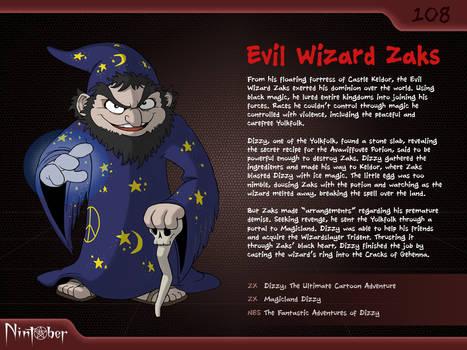 Nintober #108. Evil Wizard Zaks by fryguy64