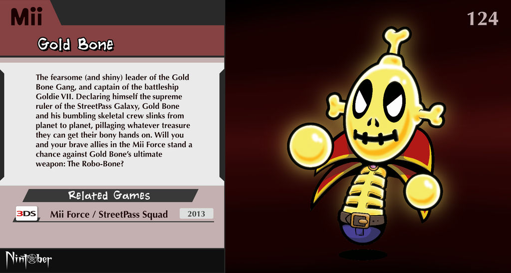 Nintober #124. Gold Bone by fryguy64