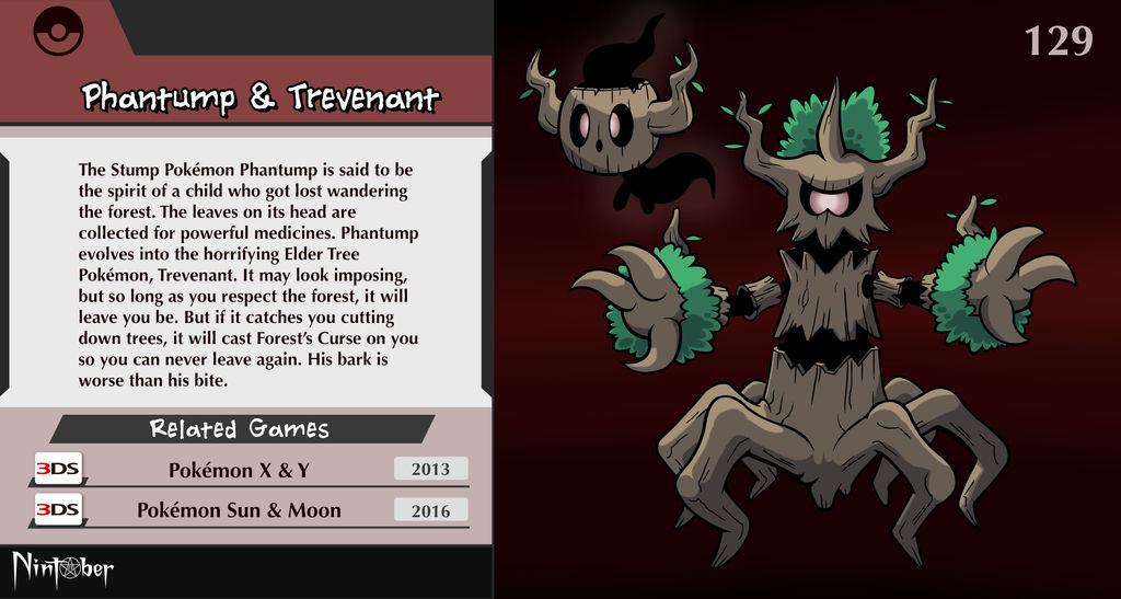 Nintendo #129. Phantump and Trevenant by fryguy64