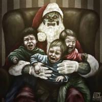Zombie Claus by ADRIANVALDEZ