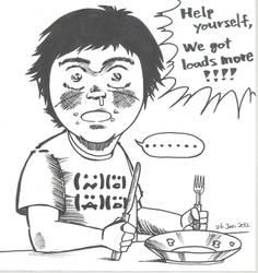Self-portrait in Manga style 164 by ShotaKotake