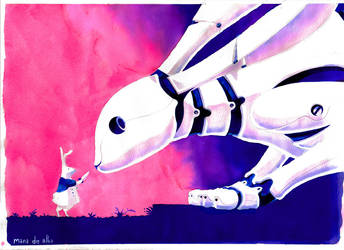 La primera zanahoria del Conejo Robot by Manawua