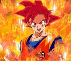 Goku Super Saiyajin God Dragon Ball Super Manga by gonzalossj3