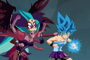Super Saiyajin Goddess vs Super Demon Goddess by gonzalossj3
