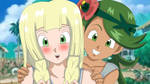 Lillie y Mallow Dragon Ball Z Style by gonzalossj3