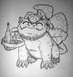 Pokemon cafe #3 Venusaur by axemsir