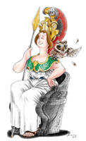 Athena - Gods of Olympus by LorenzoLivrieri
