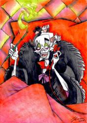 Cruella the cruellest - Coloring Book Contest by LorenzoLivrieri