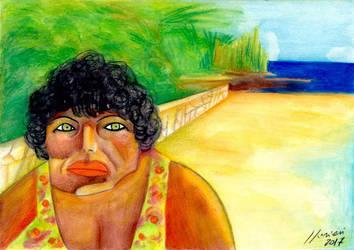 Mediterranean woman by LorenzoLivrieri
