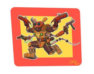 Steampunk Mouse Warrior by LorenzoLivrieri