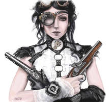Steampunk Girl by Ylafa