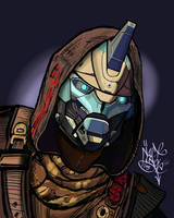 Cayde-6 on Galaxy Note 4 by KobOneArt