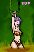 Jungle girl at quicksand trouble by FrydaMud