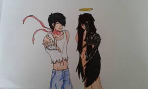 Mai and dark Mai (Emezie Okorafor) by robydc999