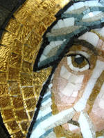 coptic icon mosaic-Moses(details) by MinaNashed