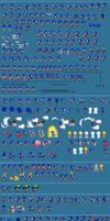 Sonic Sprites by Sk8terRaiderJXN