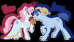 Aries x Virgo ponies by tiakaneko