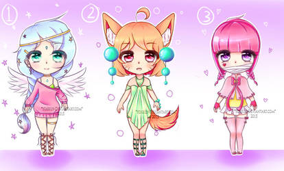 Cute girls Adopts - Auction - [OPEN] by YOSEILY
