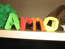 origami letters 'arno' by aarrnnoo0123