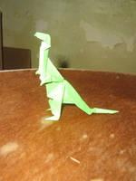 Origami Tyrannosaurus Rex by John Montroll by aarrnnoo0123