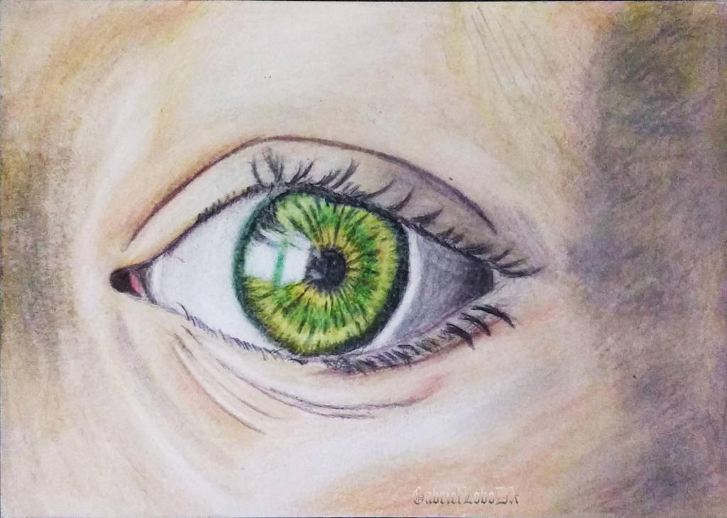 Eye Practice With Coloured Pencils by GabrielLoboDX