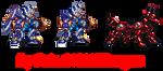 Mega Man X G.B.F. Armor + Rush Jagd by dragonfaku
