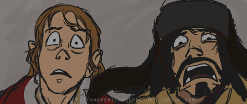 Bilbo and Bofur - Stone Giants Scene by LeTwigs
