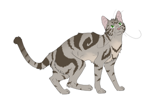 Warrior Cats #060 - Brindleface by Kuroi-Hitsuji