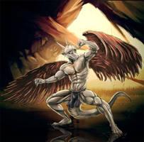 Angel dragon by Bleakcat