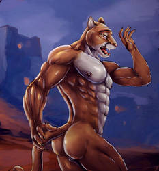Cougar's butt by Bleakcat