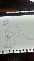 (serious) Drawing of Ribbontale by LeopardStrike2
