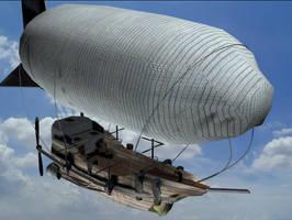 Rustic Airship by MechaDaveO