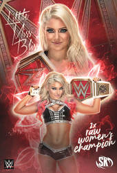 Alexa Bliss Raw Women's Champion by SK-Graphix