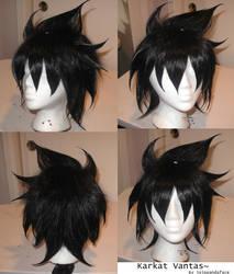 Karkat wig commission by JojoPandaFace
