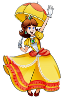 Daisy in Smash Bros by GamerGalPalJill