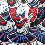 Creed's Movie Monsters #001- Killer Klown Sticker! by CreedStonegate