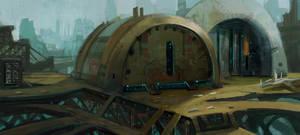 sci-fi environment by Joshk92