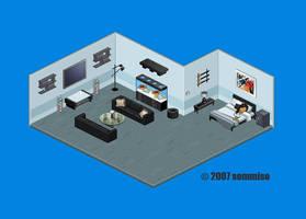 Black Room 2007 Pixel Art by sommiso