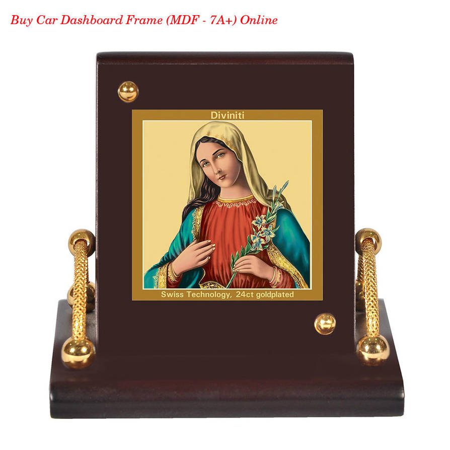Buy Car Dashboard Frame Mother Mary Mdf 7a By Anoopp123 On