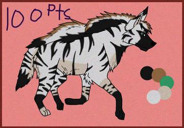 Striped Hyena Adopt *CLOSED* by Kamari-Inuzuka