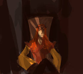 Mairon Sketch - Silmarillon by Pendraagon