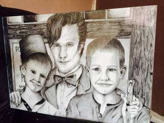 The Doctor and two Fan Boys by AlbaRadelwho