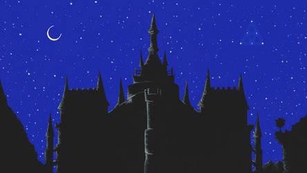Hyrule Kingdom-Night by whitewizardlotr