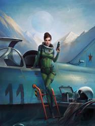 Cosmonaut - Between the Stars by ozornin-ART