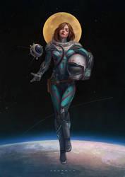Cosmonaut - Diana by ozornin-ART