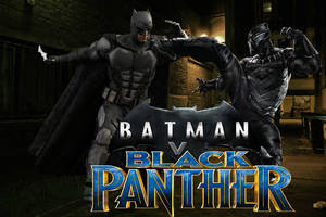 Batman v Black Panther by LightspeedPhoenix