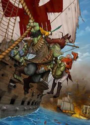 Piraterie Orc by Viviengros
