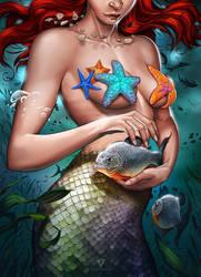 Mermaid Warrior by Viviengros